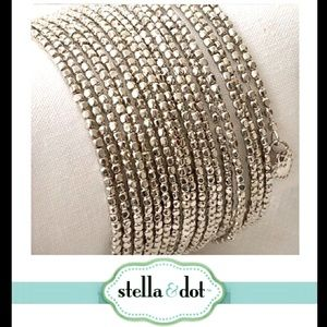 Stella & Dot Silver Bardot Bracelet - Retired